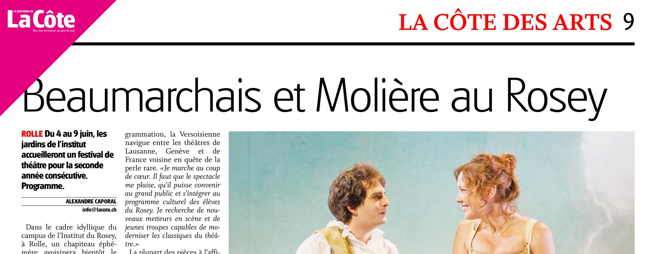 La Côte - Beaumarchais et Molière au Rosey