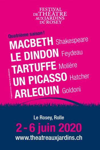 Festival de Théâtre aux Jardins du Rosey - Du 2 au 6 juin 2020